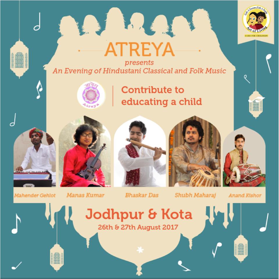 Atreya concert Jodhpur & Kota
