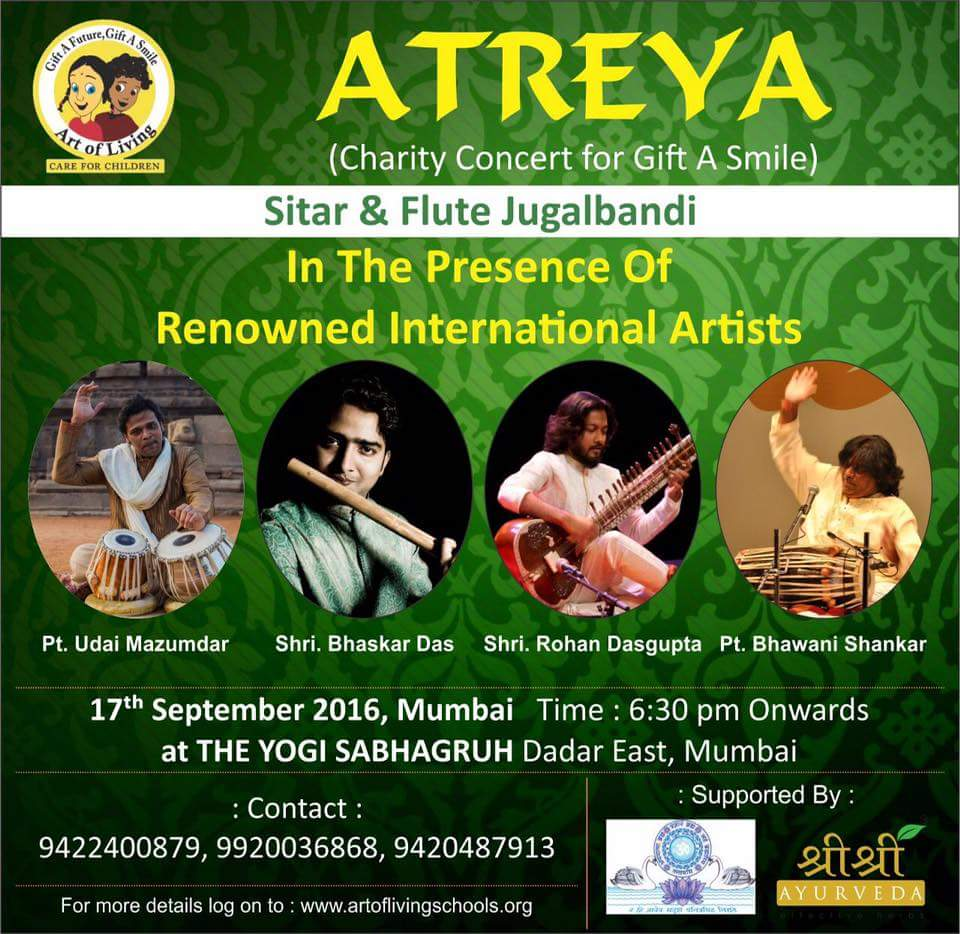 2016 atreya concert mumbai sitar bansuri