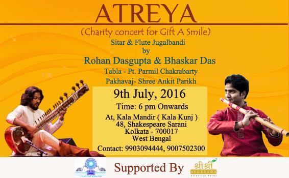 2016 bhaskar das rohan dasgupta atreya concert bansuri sitar kolkata