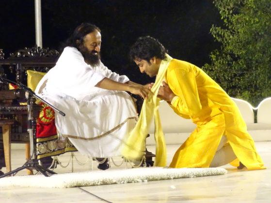 Bhaskar Das meeting Sri Sri Ravi Shankar